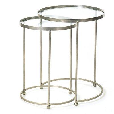 Hip Vintage Circle 2 Piece Nesting Table Set