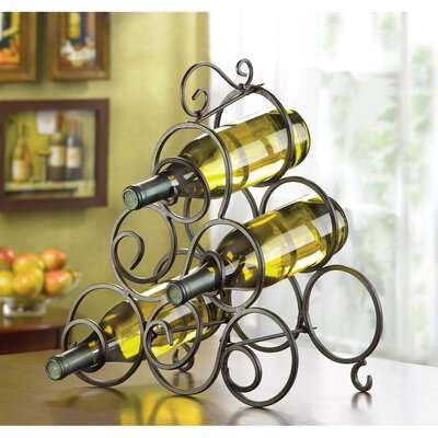 Zingz & Thingz Scrollwork 6 Bottle Tabletop ..