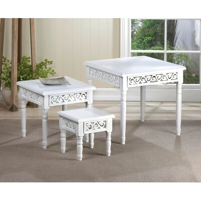 Zingz & Thingz Floret 3 Piece Nesting Tables