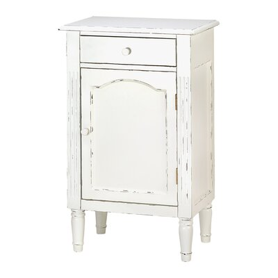 Zingz & Thingz Shabby 1 Drawer Elegance Cabinet