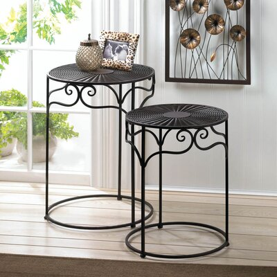Zingz & Thingz 2 Piece Umber Wicker End Table Set