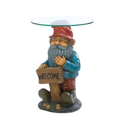 Zingz & Thingz Garden Gnome End Table