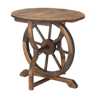 Zingz & Thingz Wagon Wheel End Table