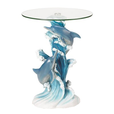 Zingz & Thingz Wave Dancers Dolphin End Table