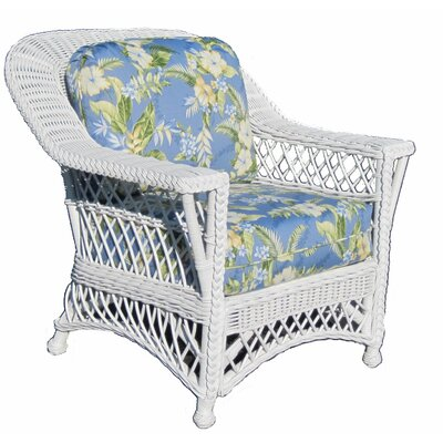 Spice Islands Wicker Bar Harbor Arm Chair