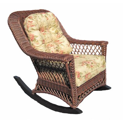 Spice Islands Wicker Bar Harbor Rocking Chair