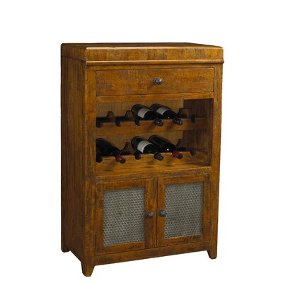 French Heritage French Accents 12 Bottle Floor Wine Cabinet