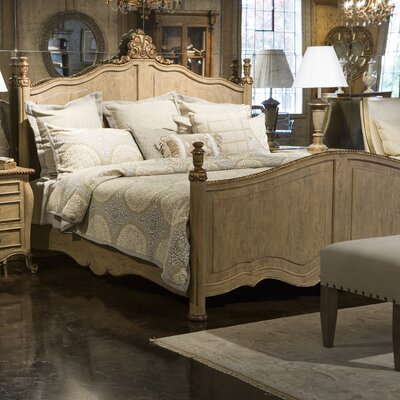 French Heritage Modernly Classic King Platform Bed