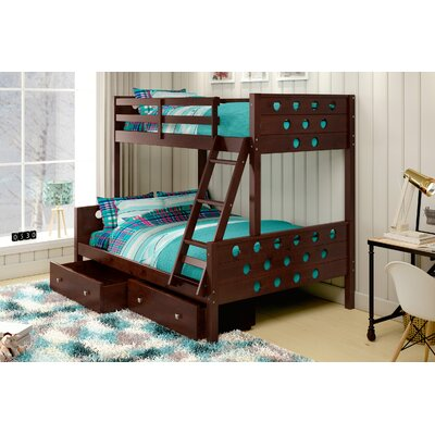 Donco Kids Twin over Full Bunk Bed with S..