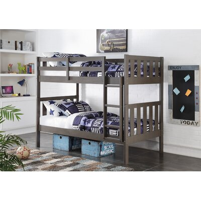 Donco Kids Wide Mission Twin Bunk Bed