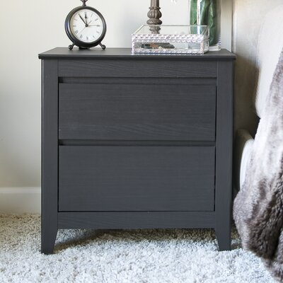 Wholesale Interiors Baxton Studio Espresso 2 Drawer Nightstand