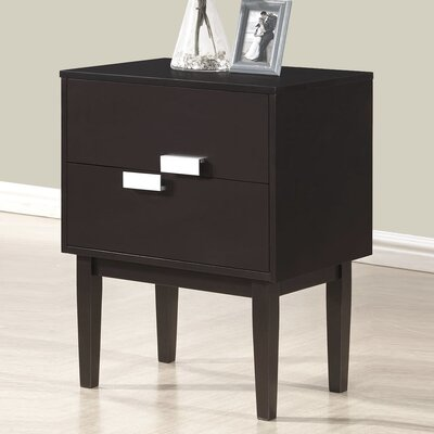 Wholesale Interiors Baxton Studio Redgrave 2 Drawer Nightstand