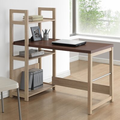 Wholesale Interiors Baxton Studio Hypercube Writing Desk with Bookshelf
