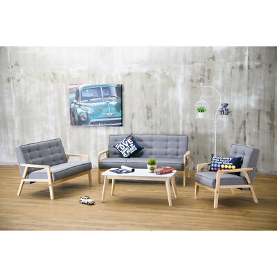 Wholesale Interiors Baxton Studio Mid Century Timor 3 Piece Sofa Set