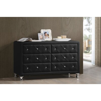 Wholesale Interiors Baxton Studio Luminescence 6 Drawer Dresser