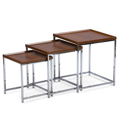 Wholesale Interiors Baxton Studio 3 Piece Nesting Tables Image
