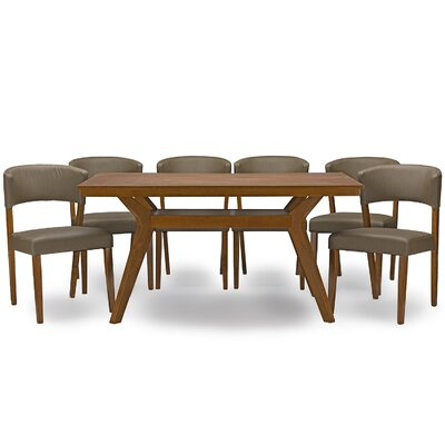 Wholesale Interiors Baxton Studio Montreal 7 Piece Dining Set