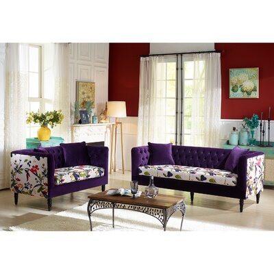 Wholesale Interiors Baxton Studio Freya 2 Piece Living Room Set