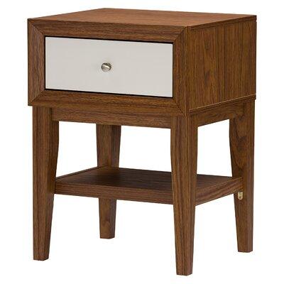 Wholesale Interiors Baxton Studio 1 Drawer Nightstand