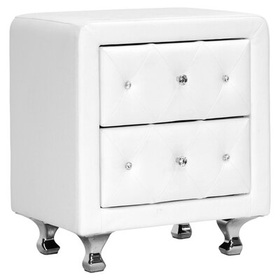 Wholesale Interiors Baxton Studio Nightstand in White