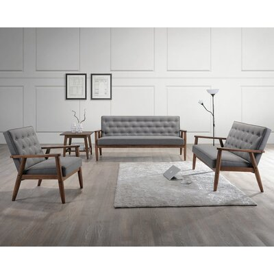 Wholesale Interiors Sorrento Baxton Studio Upholstered 3 Piece ...