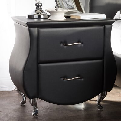 Wholesale Interiors Baxton Studio Erin 2 Drawer Nightstand
