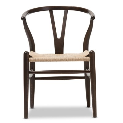Wholesale Interiors Baxton Studio Wishbone Chair in Dark Brown