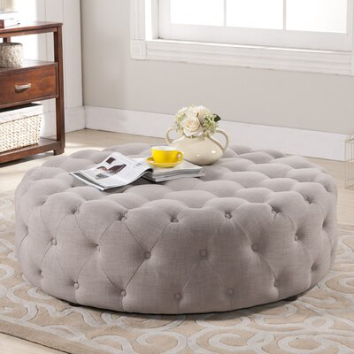 Wholesale Interiors Baxton Studio Cardiff Modern Tufted Ottoman