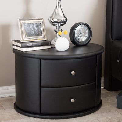 Wholesale Interiors Baxton Studio 2 Drawer Nightstand