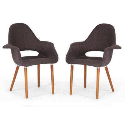Wholesale Interiors Baxton Studio Forza Fabric Mid-Century Modern Arm Chair (Set of 2)