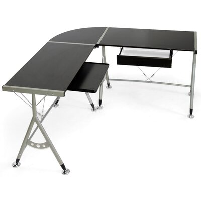 Wholesale Interiors Baxton Studio Elburn L Shaped Modern Computer Desk