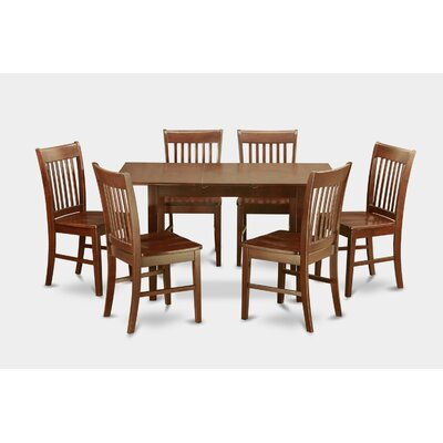 East West Furniture Norfolk 7 Piece Dining Set