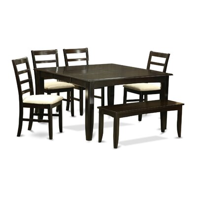 East West Furniture Parfait 6 Piece Dinning Set