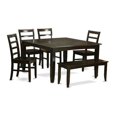 East West Furniture Parfait 6 Piece Dinning Set