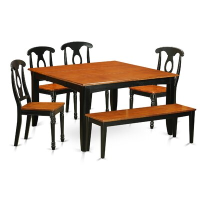 East West Furniture Parfait 6 Piece Dining Set