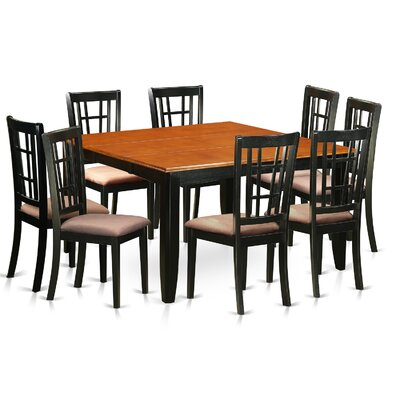 East West Furniture Plainville 9 Piece Dinin..