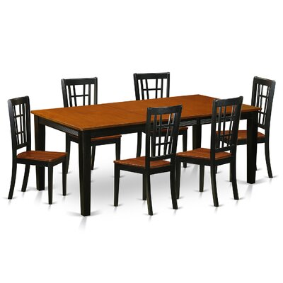 East West Furniture Quincy 7 Piece Dining..