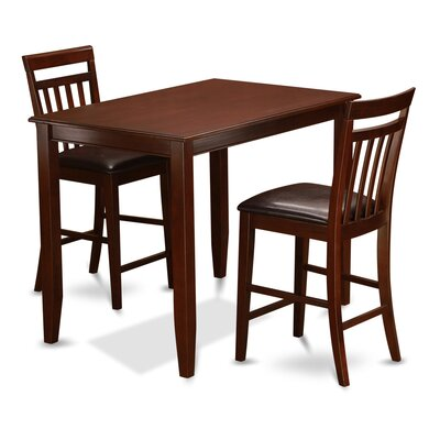 East West Furniture Buckland 3 Piece Counter Height Dining Set