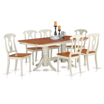 East West Furniture Napoleon 7 Piece Dinning Set