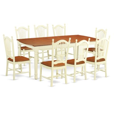 East West Furniture Dover 9 Piece Dining Set