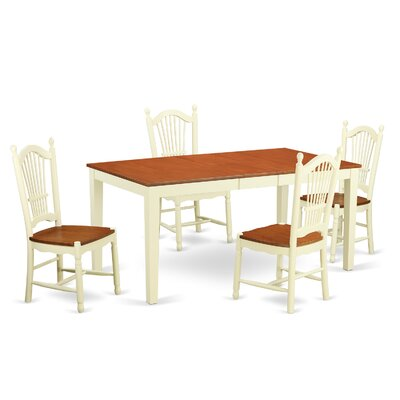 East West Furniture Nicoli 5 Piece Dining Set