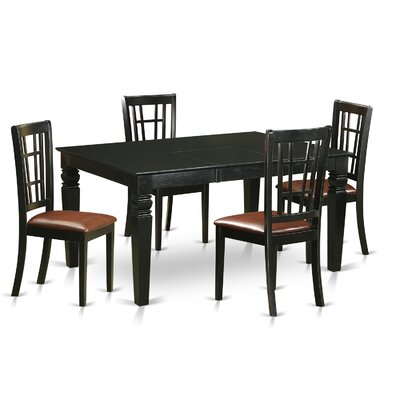 East West Furniture Shelton 5 Piece Dining Set