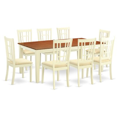 East West Furniture Quincy 9 Piece Dining..