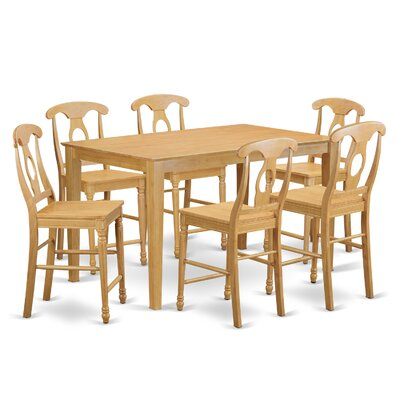 Charlton Home Smyrna 7 Piece Counter Height Pub Table Set