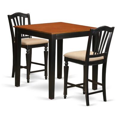 East West Furniture 3 Piece Counter Height Pub T..
