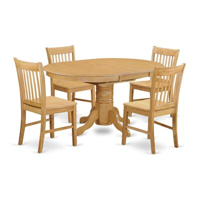 East West Furniture Avon 5 Piece Dining Set