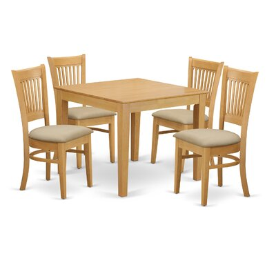 East West Furniture Oxford 5 Piece Dining Set