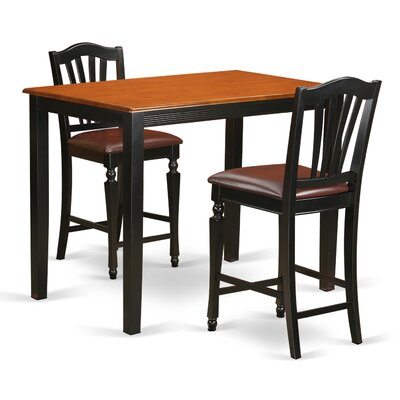 East West Furniture Yarmouth 3 Piece Counter Height Pub Table Set Image
