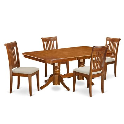 East West Furniture Naport 5 Piece Dining Set