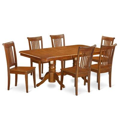 East West Furniture Napoleon 7 Piece Dining Set